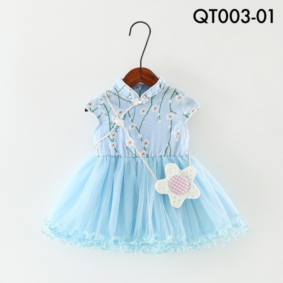 ✩Instock✩ Mini Cherry Blossom Cheongsam Tutu Dressr - QT
