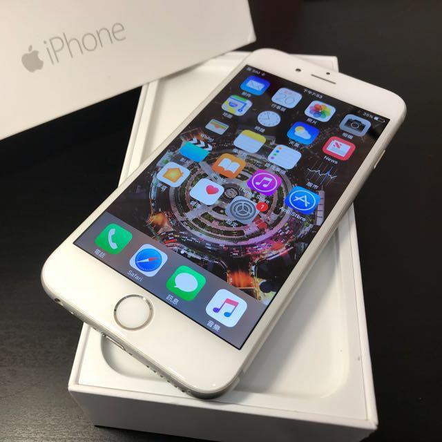 銀色iPhone6 64G盒裝 附充電頭+線(不議價)高雄鳳山可面交11391
