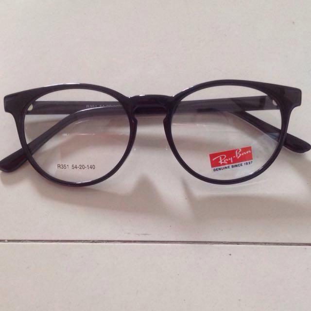 Kacamata Round Black RayB