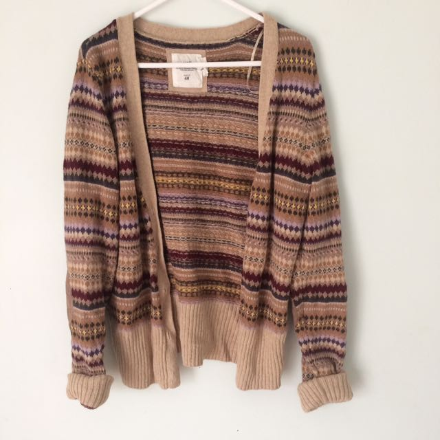 Knitted winter cardigan