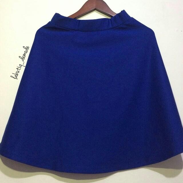 Korean Elektrik Blue Skirt