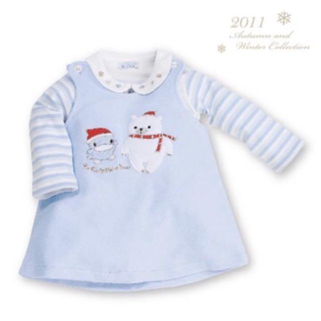 出清!KUKU 北極熊小裙裝 酷咕鴨 套裝/KU-8283