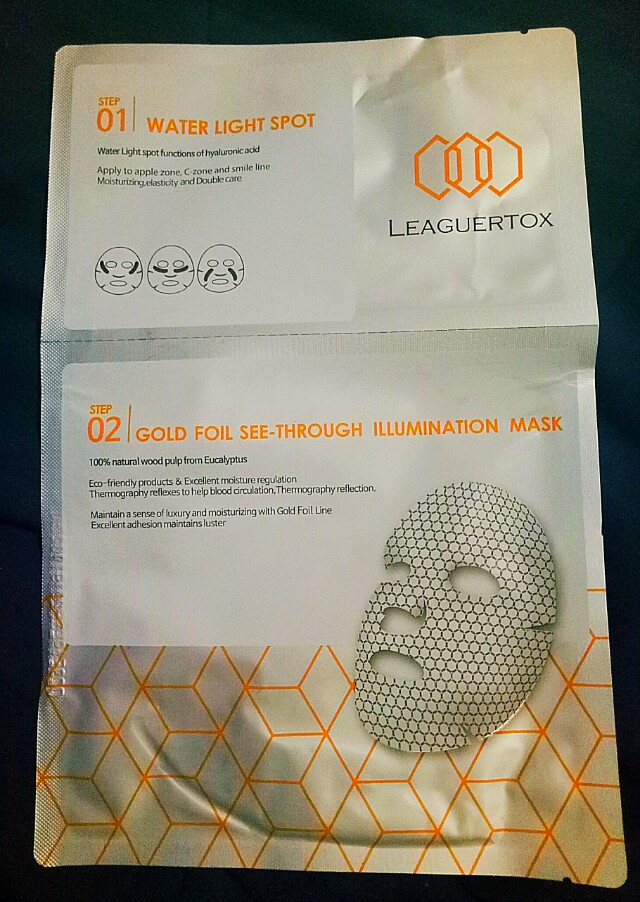 Leaguertox Gold Foil See-Through Illumination Mask