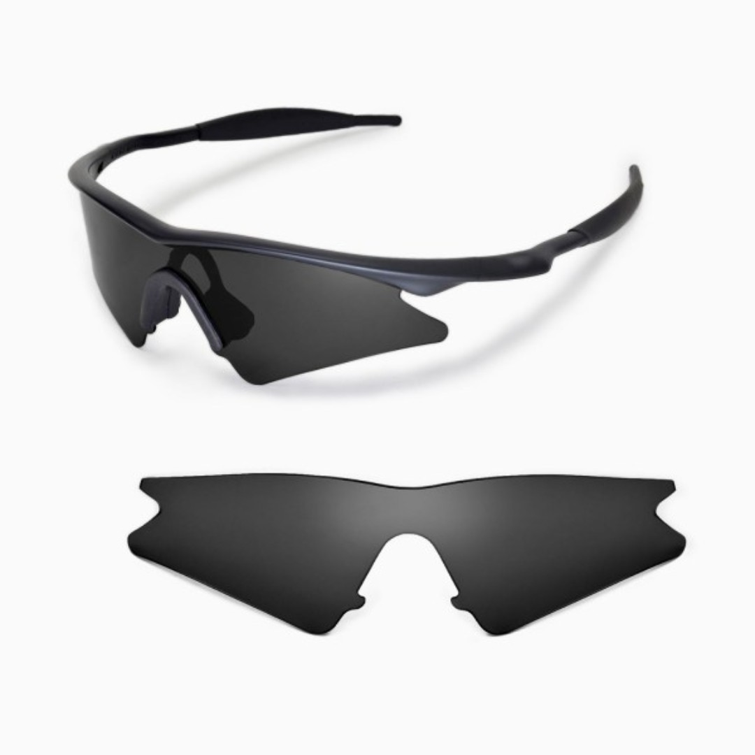 53f62f83bd M Frame Sweep Black POLARIZED Walleva Replacement Lenses for Oakley ...