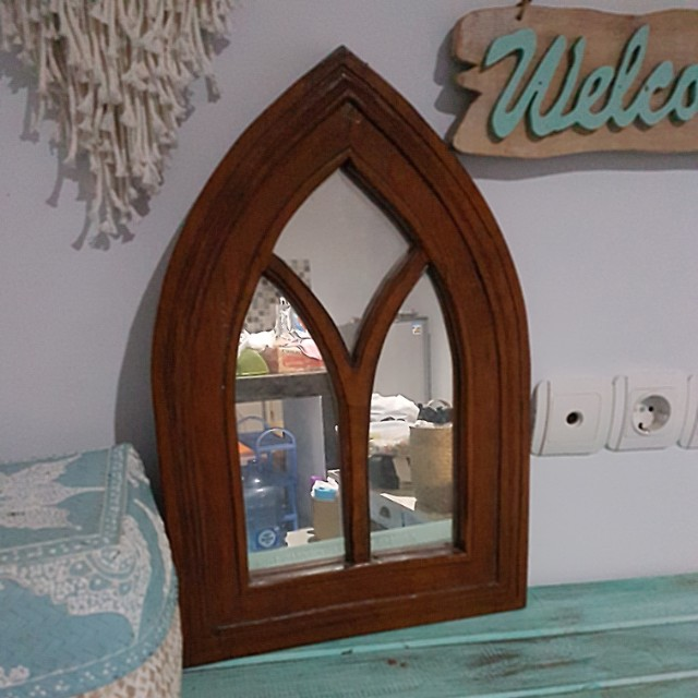 Mirror Cantik Teakwood Antik