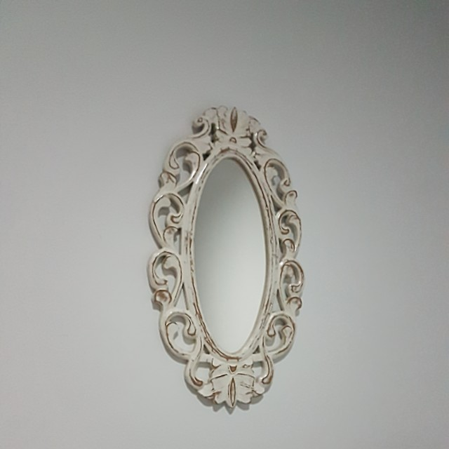 Mirror Cermin Cantik whitewashed