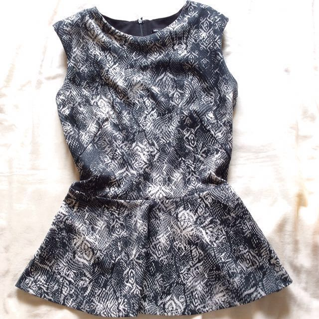 [MNG] Structured Peplum Top.