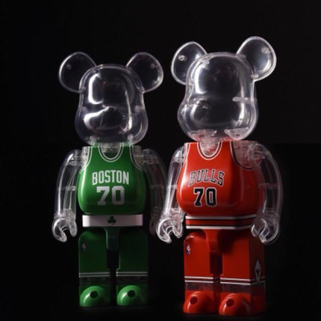 2017 Medicom 400/% NBA CAVALIERS /& WARRIORS Be@rbrick Set of 2 Bearbrick IN STOCK