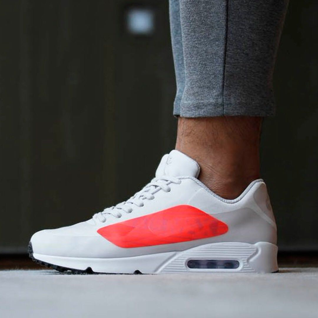 e85edfef4d28d1 NIKE AIR MAX 90 NS GPX GREY AND CRIMSON