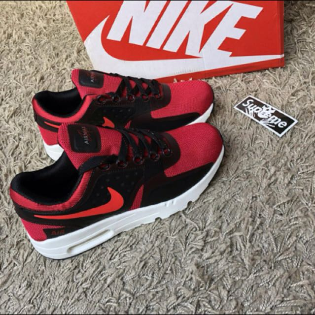 half off 29e5a 1a50a Nike Air Max Zero Red Black, Men s Fashion, Footwear, Sneakers on ...
