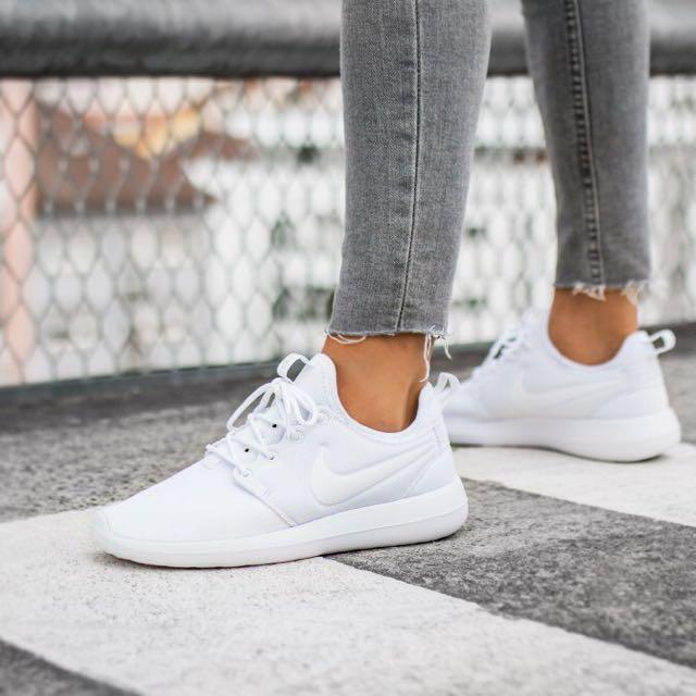 Nike Roshe White on White Shoes