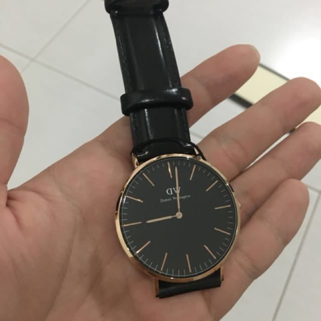 9b45fe10e9c41 Original DW Classic Black Sheffield Rose Gold 40mm