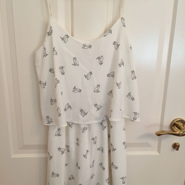 Owl Shift Dress Size S