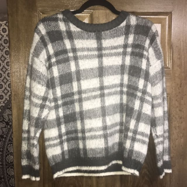 Patterned Fuzzy Sweater