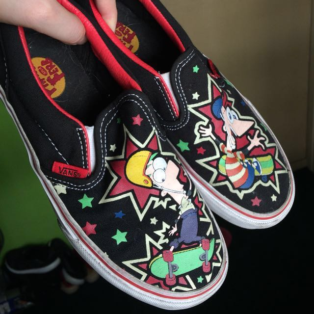 Phineas & Ferb Vans Classic Slip On Kids 2.5
