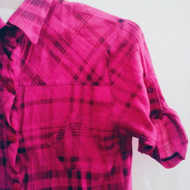 Pink Checkered Polo