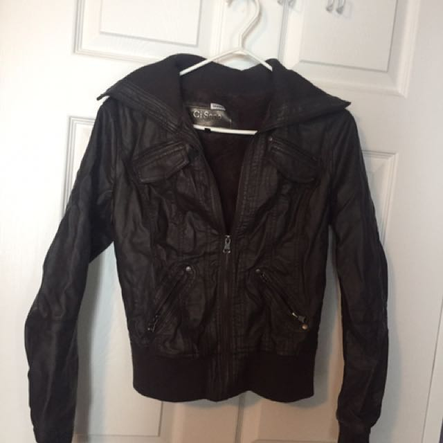 **PRICE REDUCED*** fake leather jacket
