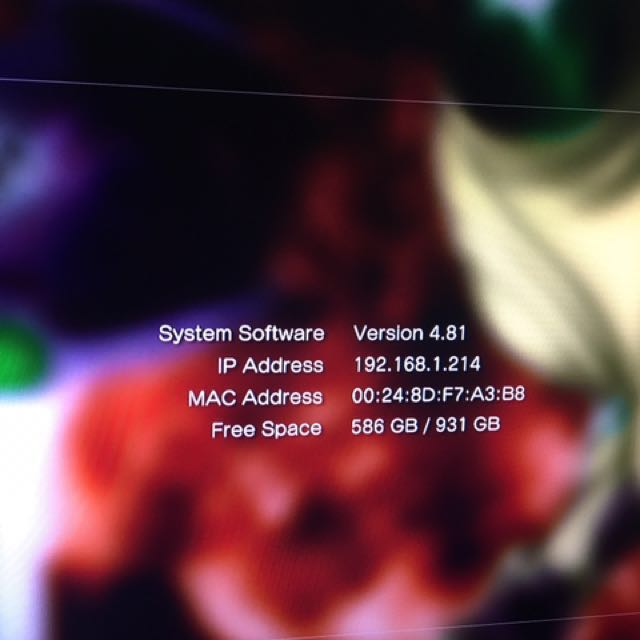 PS3 set (jailbreak 4.81)
