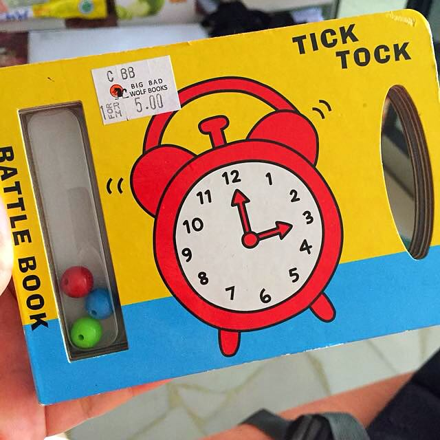 Rattle book / bedtime toy for babies