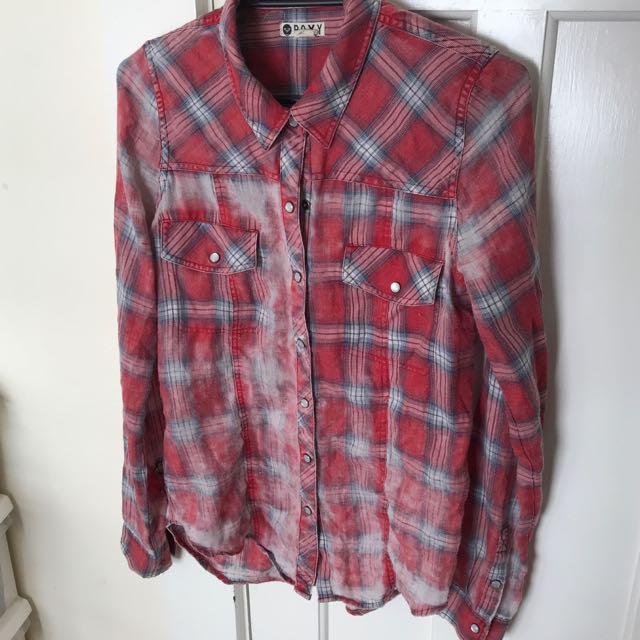 ROXY flannel shirt