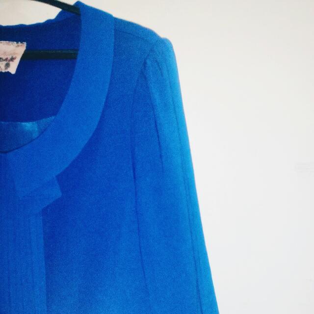 Blue Longsleeved Dress