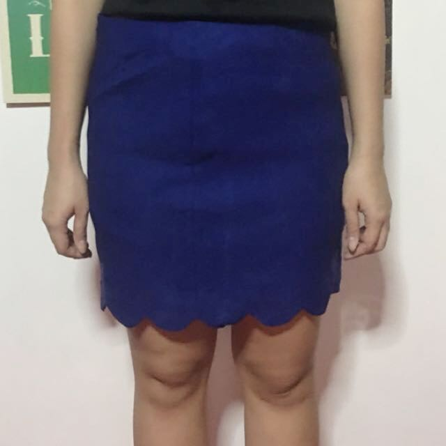 Royal Blue Scallop Skirt