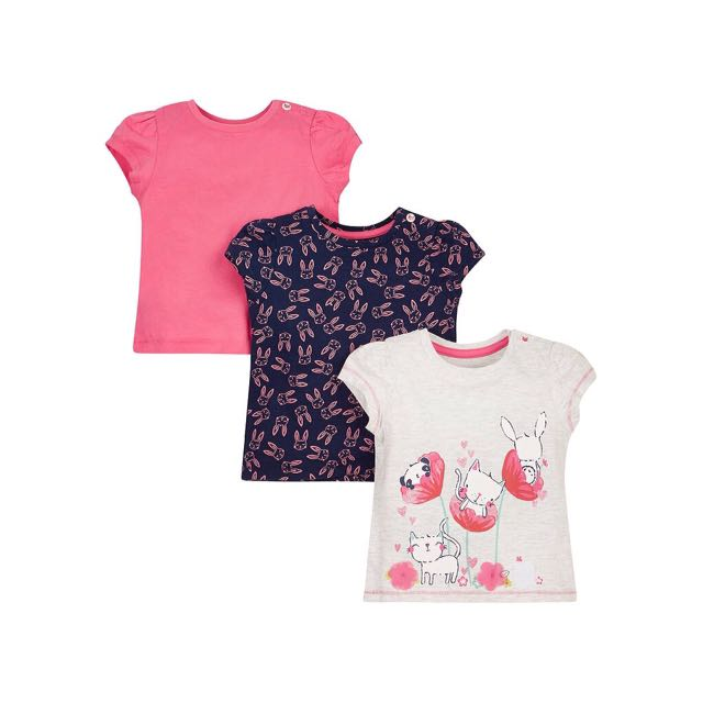SALE! New Mothercare Tee 3in1 bunny gray