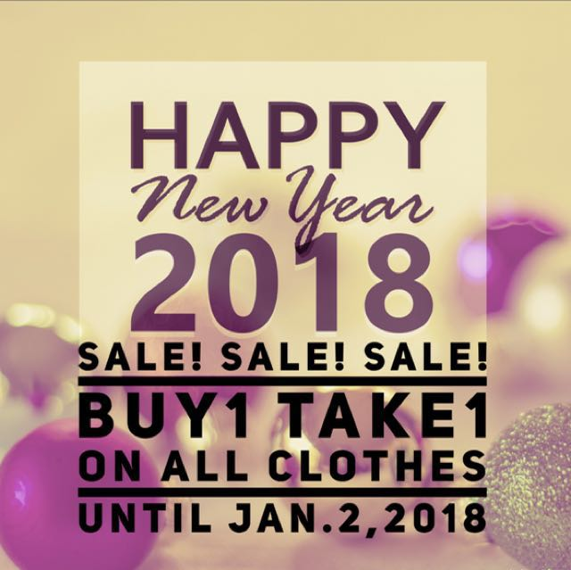 SALE! SALE! SALE! Buy1take1 on all clothes