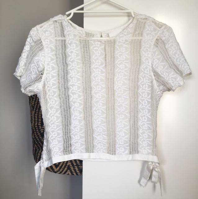 Seed Top lace white