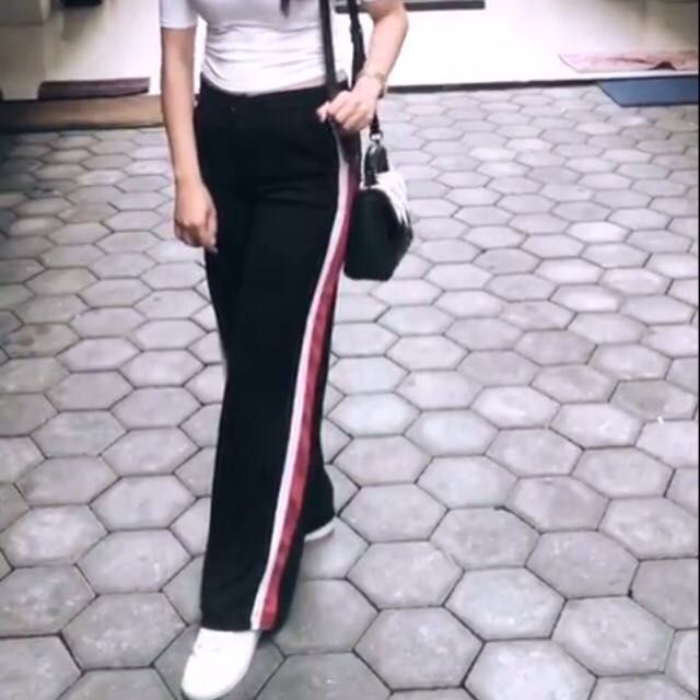 Side stripe pants cullotes