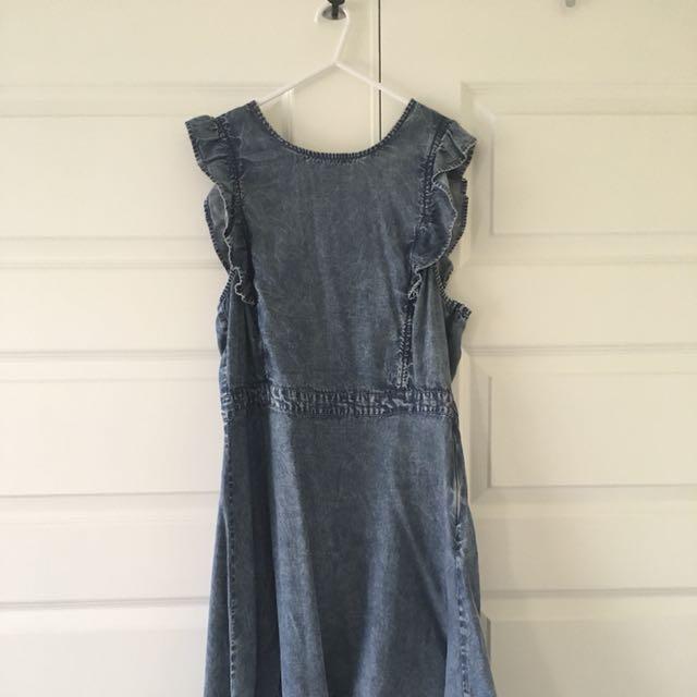 Size 12 | Sass Denim Frill Dress