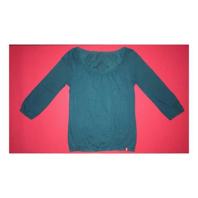 Teal Shirt 3/4 sleeves