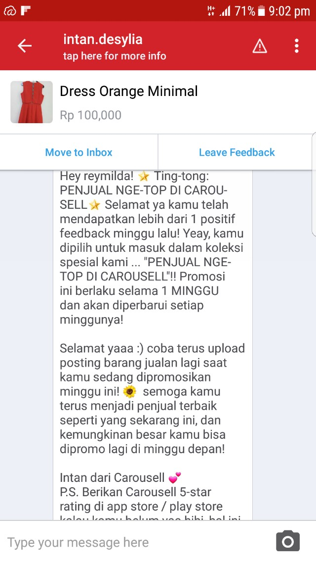 Thankiuuuuu CS Carousell