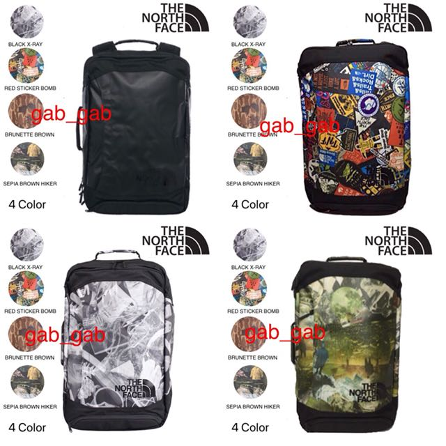THE NORTH FACE REFRACTOR DUFFEL PACK | BLACK X-RAY PRINT | TNF BLACK | RED STICKER BOMB | BRUNETTE BROWN CATALOG| SEPIA BROWN HIKER