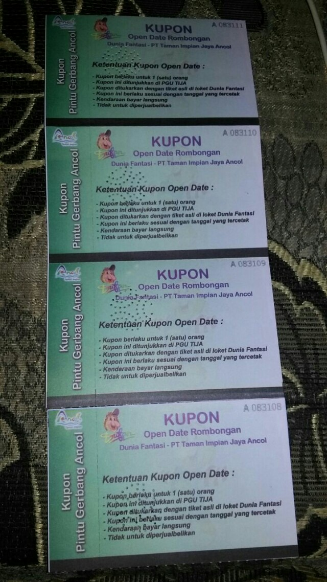 4tiket Ancol 4 Tiket Dufan Tickets Vouchers Attractions