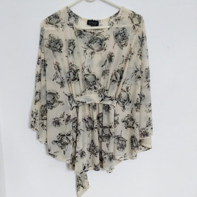 Topshop batwing kimono top