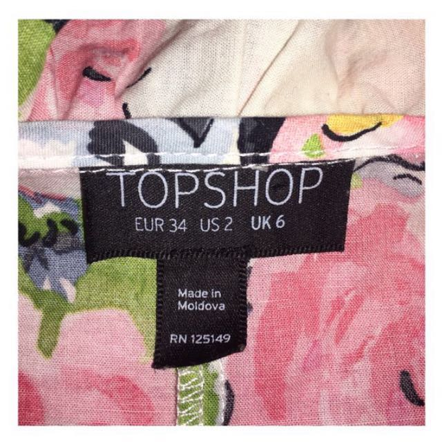 Topshop Floral Sleeveless Blouse