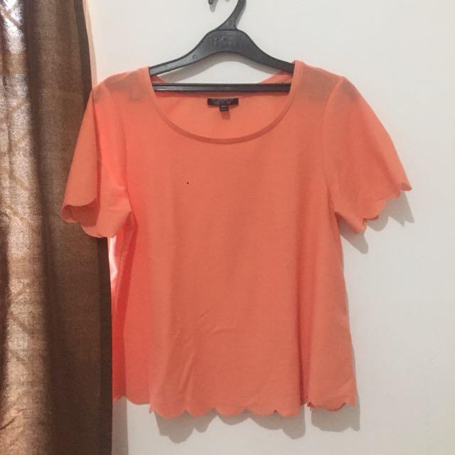 Topshop peach shirt