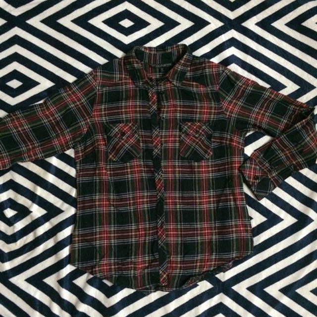 Topshop Woman Flannel Shirt