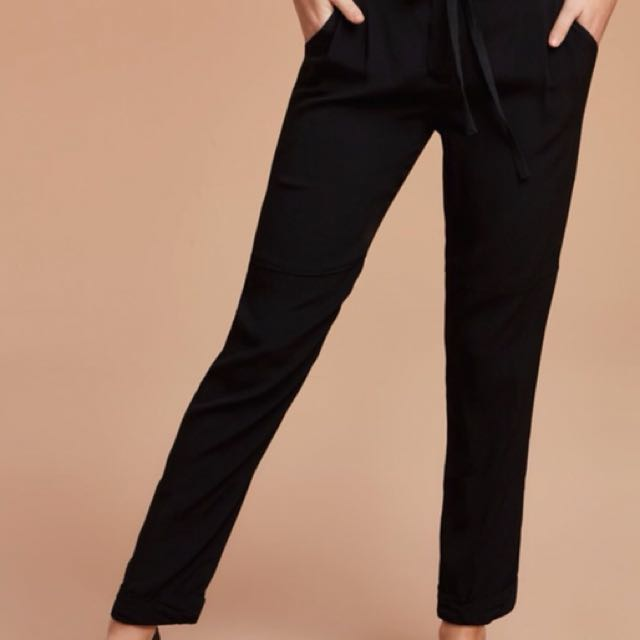 Wilfred Marais Silk Pants - XS Black