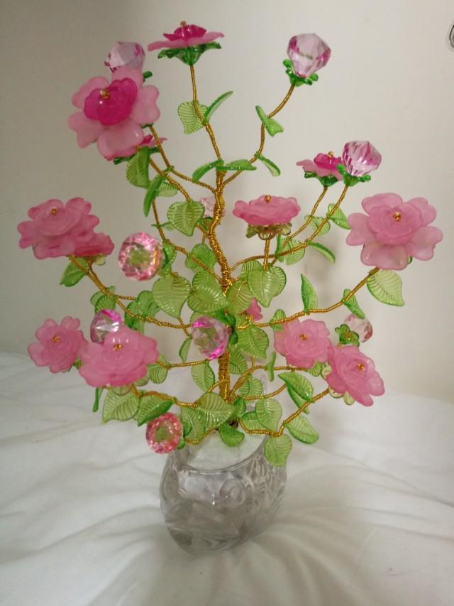 Wire Beaded Flower Vase Carousell