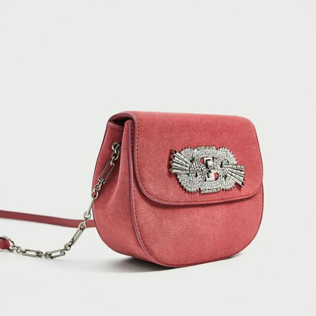 Zara Leather Detail Crossbody