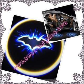 2pcs Batman Logo Magnetic Wireless Car Door Ghost Shadow Courtesy Greetings Projector LED Light