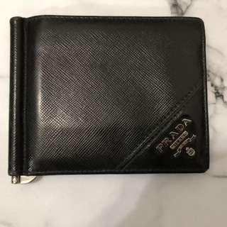 Prada card holder 男士men銀包 卡片 錢包 75%new 100%real