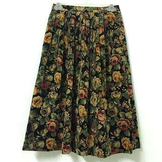 Vintage 古著絨布高腰裙
