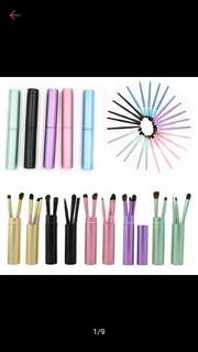 Eyeshadow makeup brushes set travelling