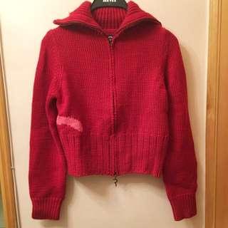 Evisu Donna Red sweater