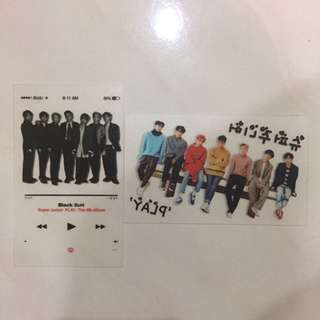 Super Junior Transparent Card