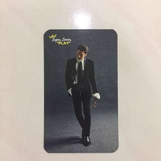 Super Junior Siwon Photocard