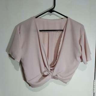 LATEST Criss Cross Light Pink Top